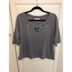 Abercrombie and Fitch Embellished Neck Top
